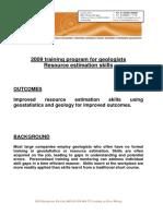 Resource Estimation Skills