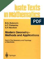 Modern Geometry, Parte II - B.a. Dubrovin, S.P. Novikov, A.T. Fomenenco
