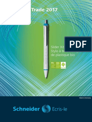 Schneider Slider Basic Encre bleue F Stylos /à bille, pointe fine Lot de 10 Stylos