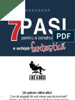 7 Pasi Pentru o Echipa Fantastica_CHISINAU_handout
