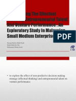 Entrepreneurial Talent and Effectuation