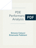 PDE - Performance Analysis