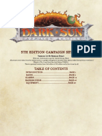 DARK SUN 5E