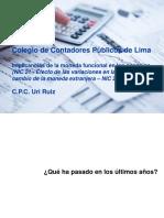 NIC 21 Efectos Variaciones Tasas Cambio Moneda Extranjera
