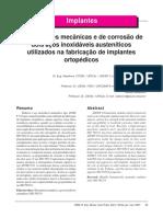 Giordani 2007 - Propriedades Mecânicas e de Corrosão de 2 Aços Inox Usados Em Implantes