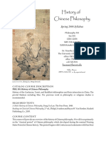 01. History of Chinese Philosophy Syllabus