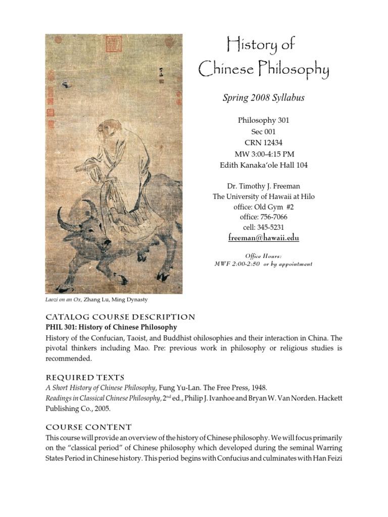 readings in classical chinese philosophy ivanhoe philip j van norden bryan w