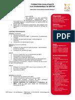 Programme de Formation Qualifiante Les Fondamentaux MBTI