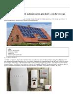 Europa, Contra La Ley de Autoconsumo_ Producir y Vender Energía Será Un Derecho