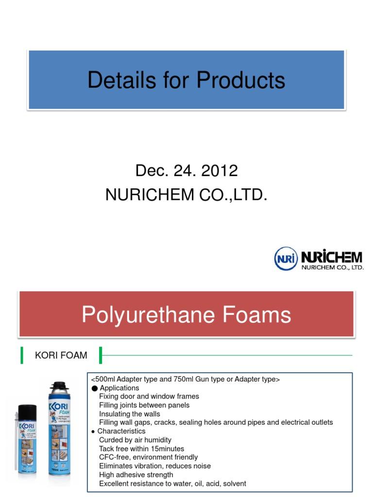 Catalogue Nurichem | Silicone | Polyurethane