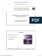PROP 2011 - Aula4 - Propriedades Mecanicas IV - Resistencia a Flexao