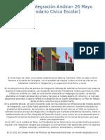 Dia de La Integración Andina