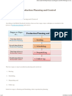 Production Planning and Control Stages Steps