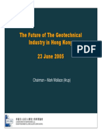 Future of Geotechnical Industry in Hong Kong