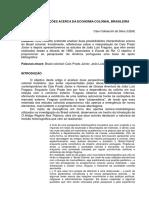 Duas Concepcoes Acerca Da Economia Colonial Brasileira