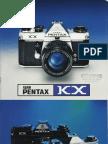 Pentax KX Film SLR Camera Brochure