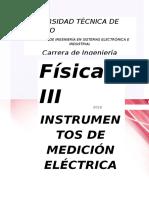 Laboratorio de Fisica Instrumentos de Medicion