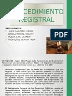 El Procedimiento Registral Diapositivas