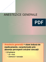 Anestezice Generale