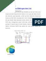 Menghasilkan Hidrogen Dari Air