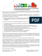La déclaration commune des syndicats d'ING