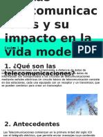 1.1 Las Telecomunicaciones y Su Impacto en La Vida Moderna
