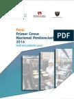 Centros penitenciarios a nivel nacional durante el año 2016.