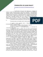 As Contribuicoes de J Piaget