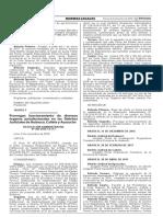 Prorrogan funcionamiento de diversos órganos jurisdiccionales en los Distritos Judiciales de Huánuco Cañete y Ayacucho
