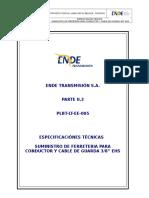 5.- PARTE II.3 Especificacion Tecnica Ferreteria y Cable de Guarda
