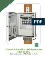 Control automático de interruptores S/C 6801