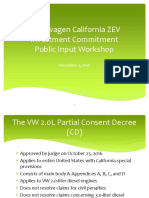 VW Diesel Scandal $800M ZEV Investment in California Suggestions