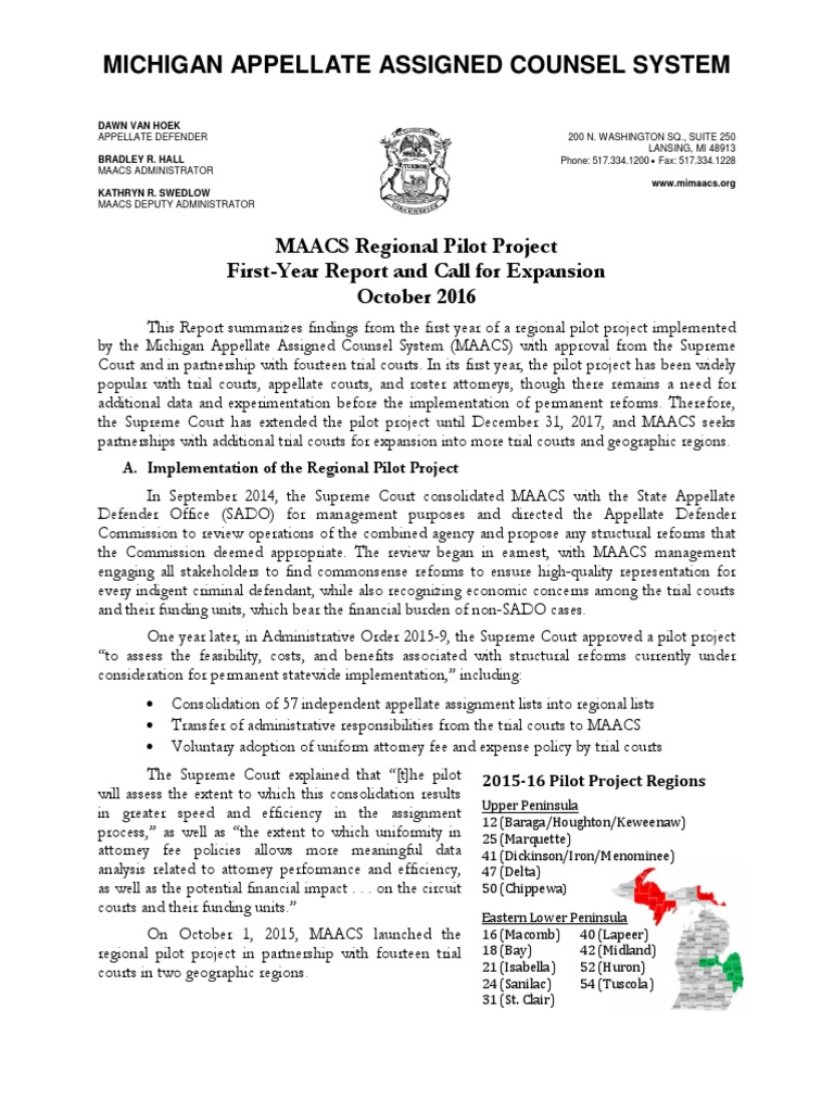 MAACS Pilot Year-One Report   Wisconsin Circuit Courts