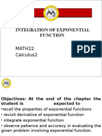 Lesson 5 Integration of Exponential Function