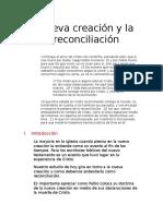 Nueva creación, la reconciliación y la expiacion