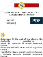 Lesson 4 Integrals Yielding the Natural Logarithmic Function