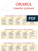 Orarul claselor primare 2016-2017