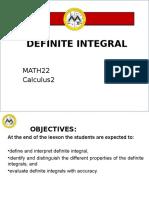 Lesson 3 Definite Integral
