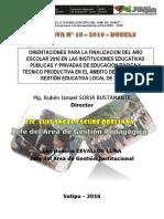 Directivas de Finalización Del Año 2016