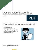 Observación Sistemática
