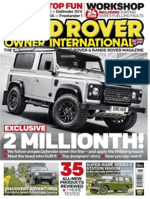 Landrover Owner August 2015 | Diesel Engine | Motor Vehicle