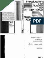 Körner.introducción a La Filosofía de Las Matemáticas