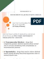 Exp. 12 Neuromuscular Blockers
