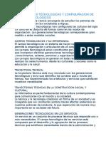 Generaciones Tecnologicas y Configuracion de Campos Tecnologicos