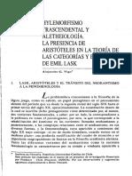 Hilemorfismo en Aristoteles y Kant
