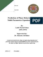 Phase Behavior by EOS