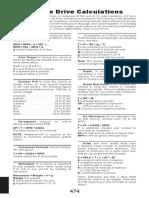 Formula Vehicle Drive Calc