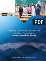 Admission Prospectus for International Students