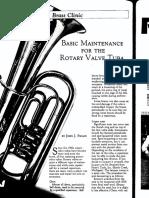 basic maintainance for the rotary valve tuba