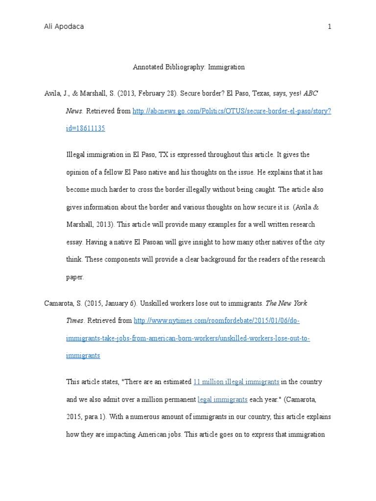 illegal immigration essay titles